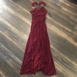 BNWT Lulu's High Low Asymmetrical Maxi Wrap Dress